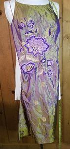 Free People Halter Backless Silk Mini Dress